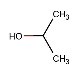 Chemische Struktur von Isopropanol